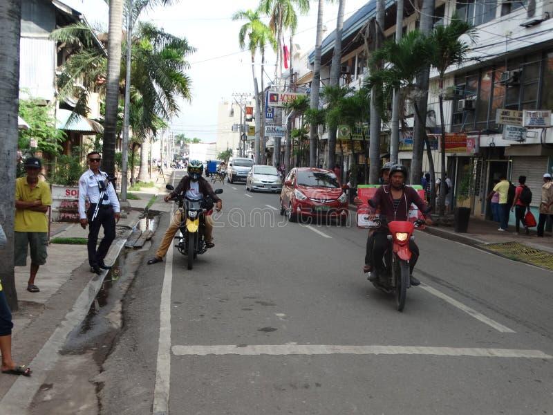 Сцена улицы Zamboanga, Mindanao, Филиппины стоковые фотографии rf