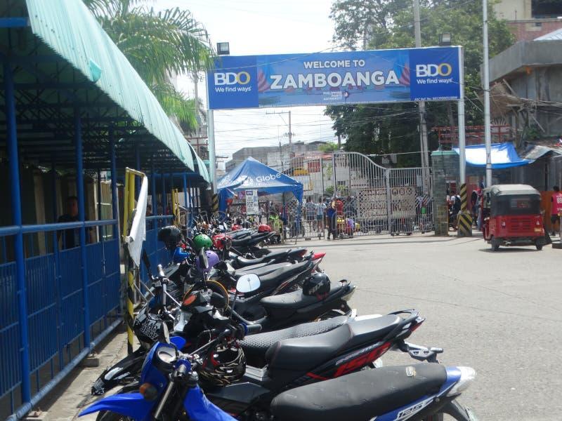Сцена улицы Zamboanga, Mindanao, Филиппины стоковые изображения