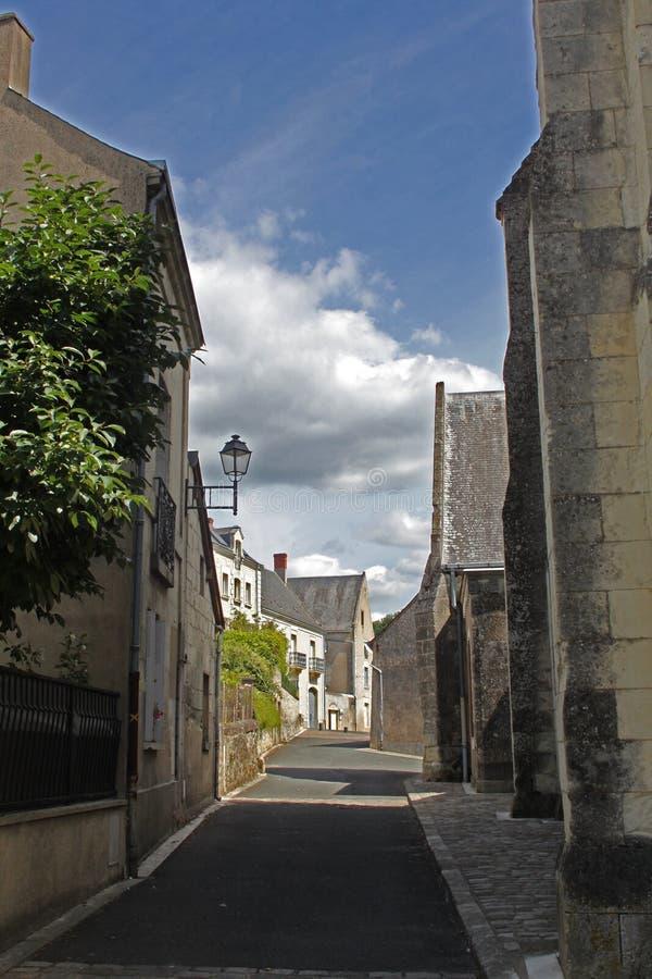 Сцена улицы в Manse Crissay Sur стоковое фото