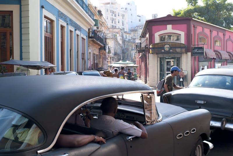 Сцена улицы Гаваны стоковое фото