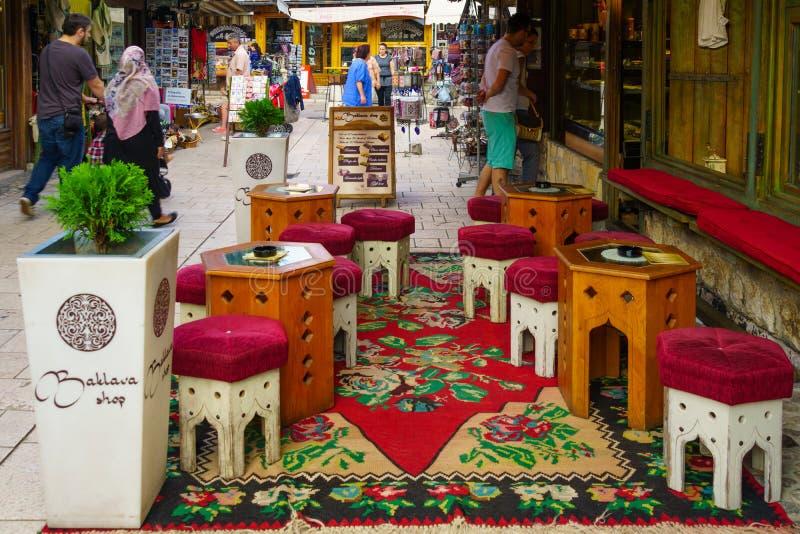 Сцена улицы, Сараево стоковые изображения