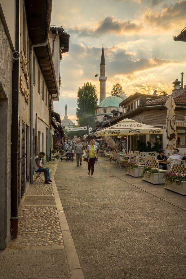 Сцена улицы, Сараево стоковое изображение rf