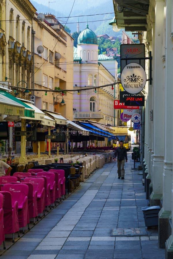 Сцена улицы, Сараево стоковые фото
