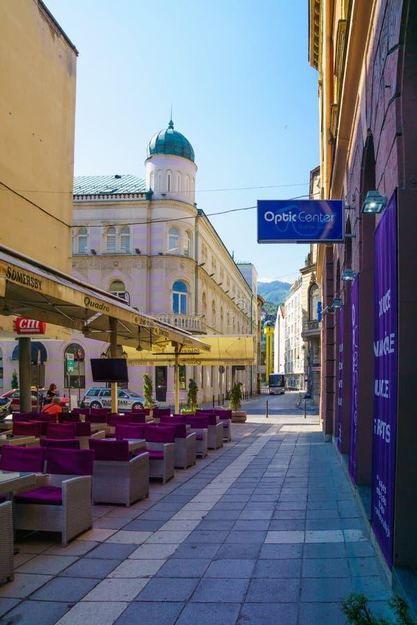 Сцена улицы, Сараево стоковые фотографии rf