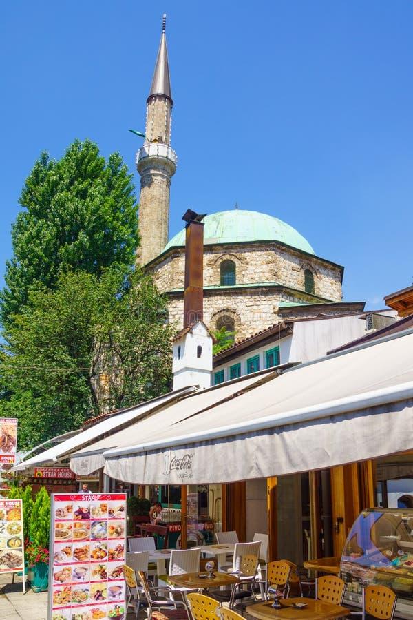 Сцена улицы, Сараево стоковое изображение