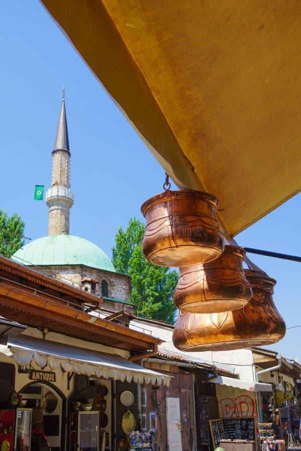 Сцена улицы, Сараево стоковая фотография