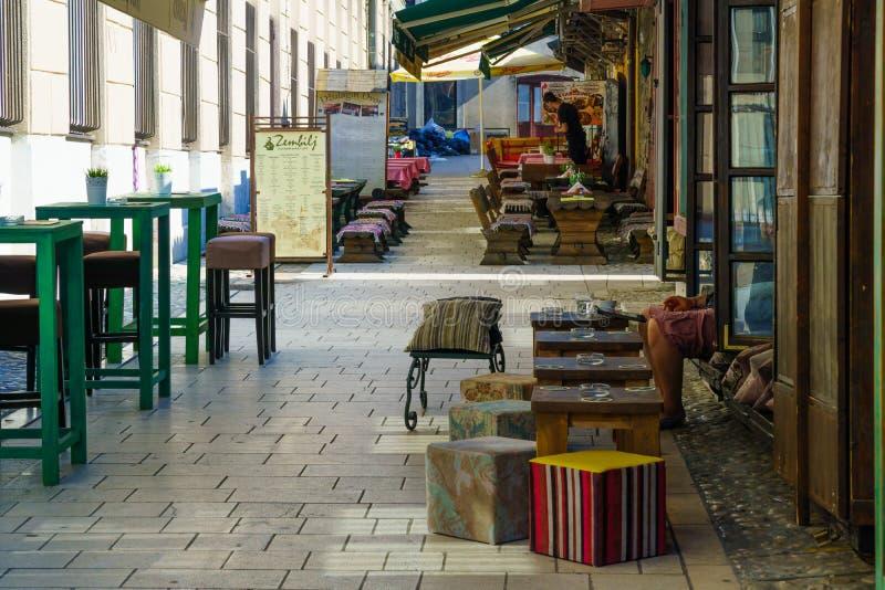 Сцена улицы, Сараево стоковое фото