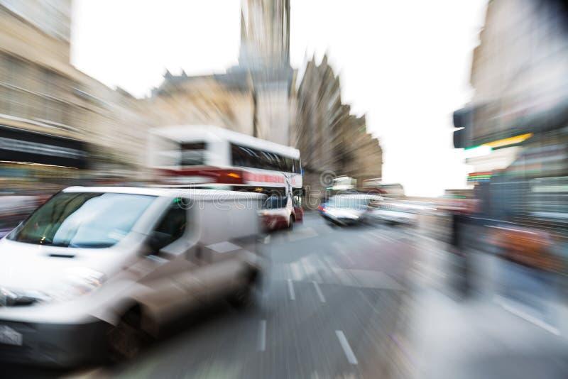 Сцена улицы Эдинбурга с влиянием сигнала стоковые фото