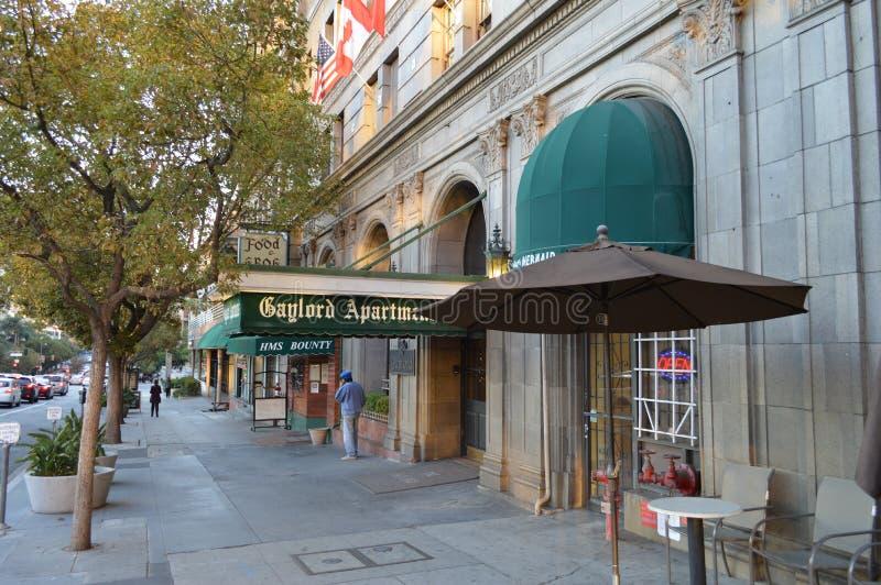 Сцена улицы Koreatown Лос-Анджелеса стоковое изображение