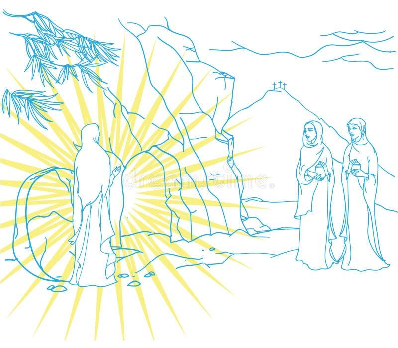 Сцена Mary Magdalene иллюстрация вектора