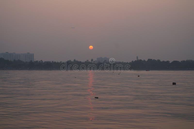 Сценическая красота захода солнца стоковая фотография rf