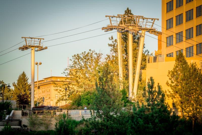Сцены вокруг spokane Вашингтона городского стоковые фотографии rf