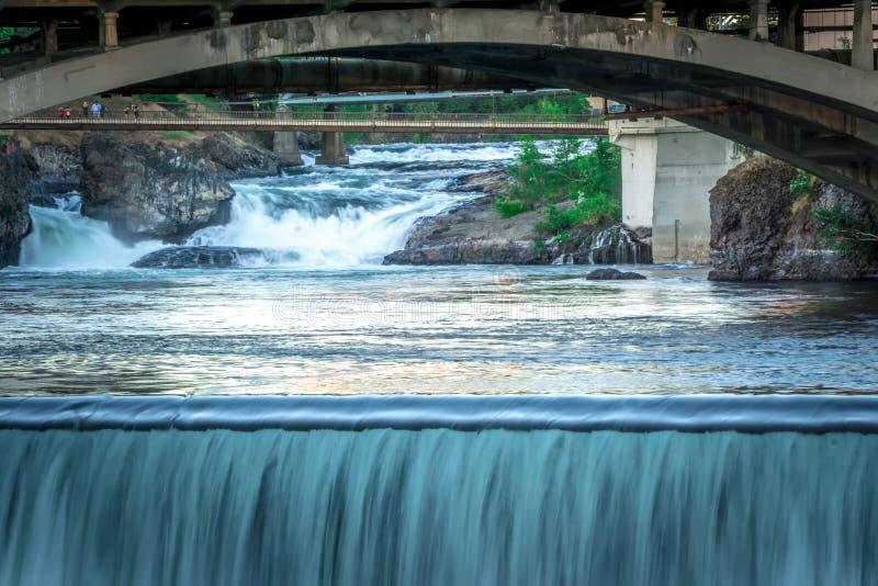 Сцены вокруг spokane Вашингтона городского стоковые изображения rf