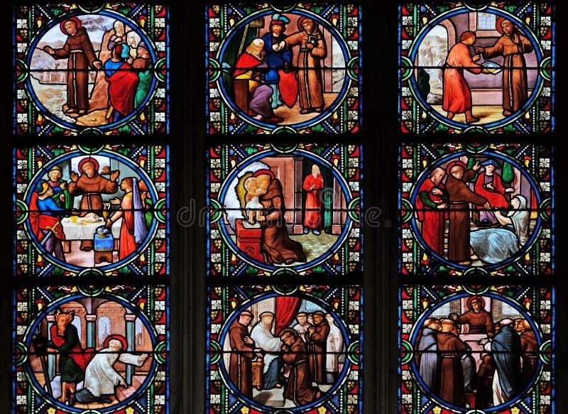 Сцены от жизни Святого Антония стоковое фото rf