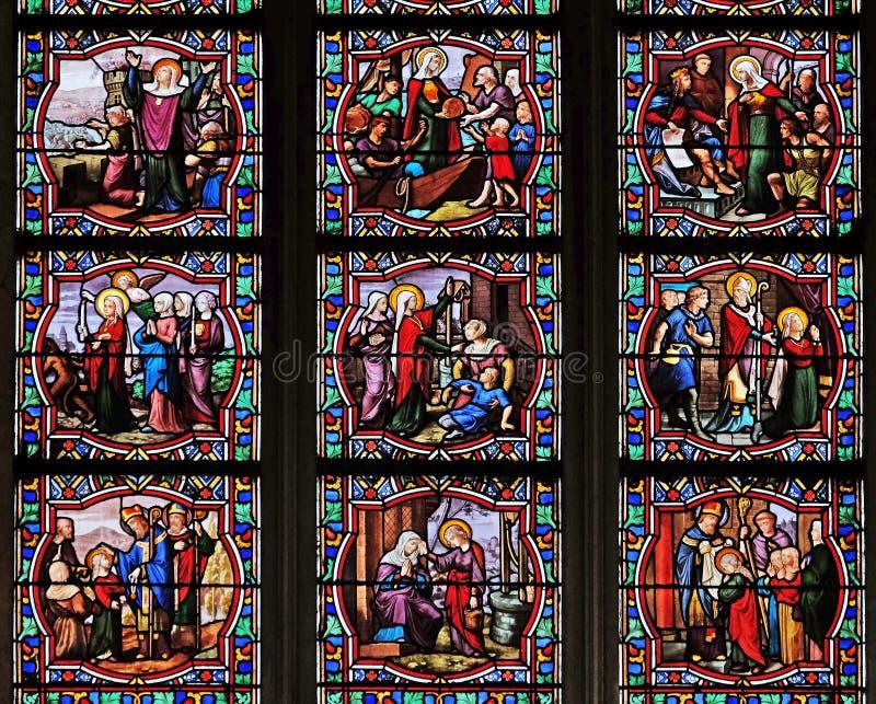 Сцены от жизни St Genevieve стоковое фото