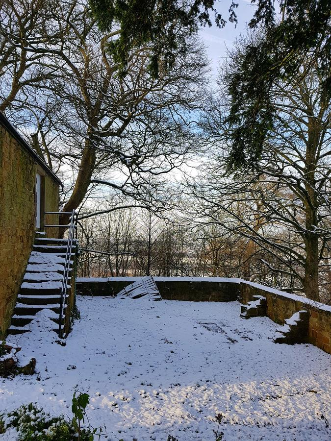 Сцены Snowy на зале hardwick стоковая фотография rf