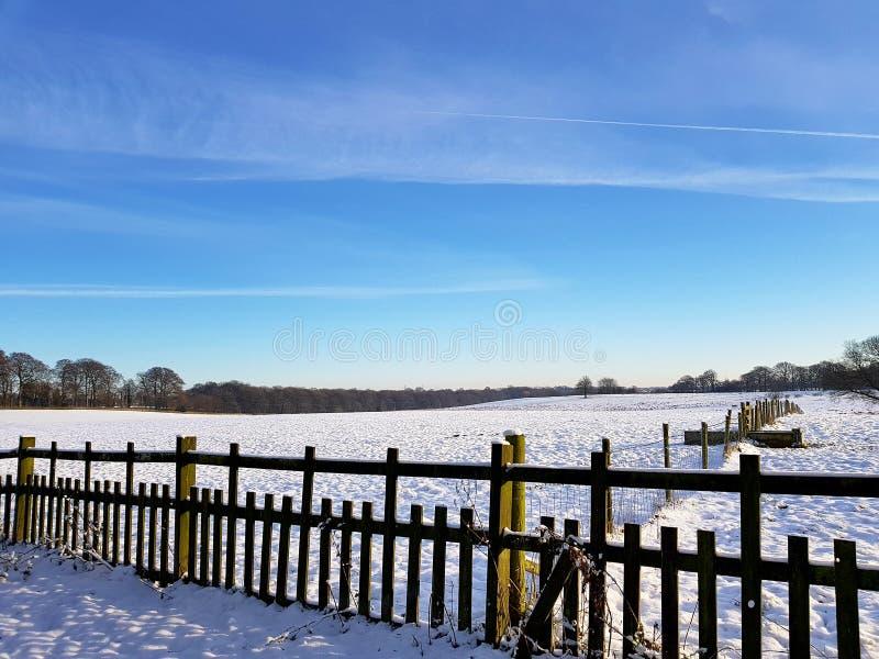 Сцены Snowy на зале hardwick стоковое фото rf