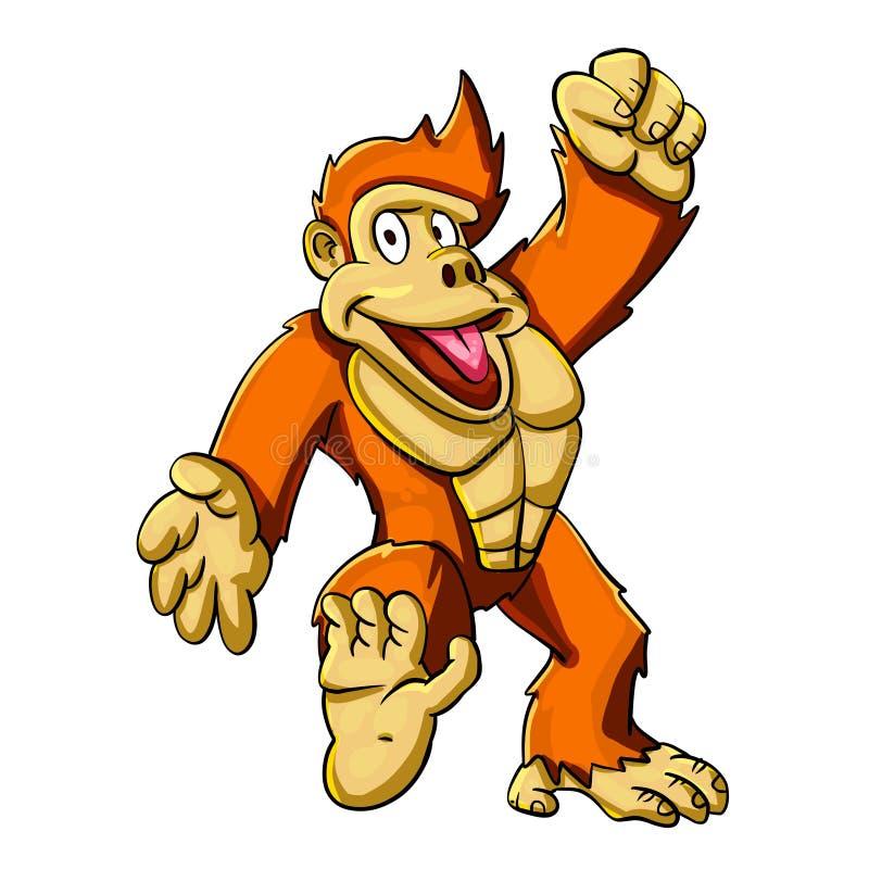 Счастливая горилла бесплатная иллюстрация