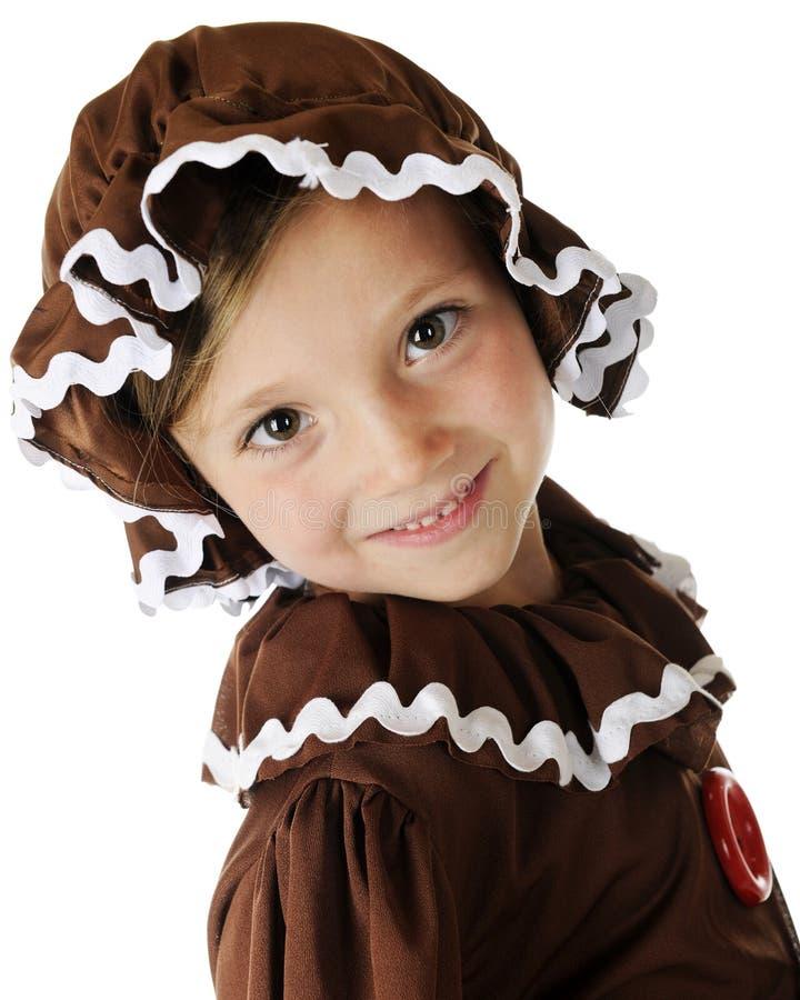 Счастливая девушка Gingerbread стоковая фотография