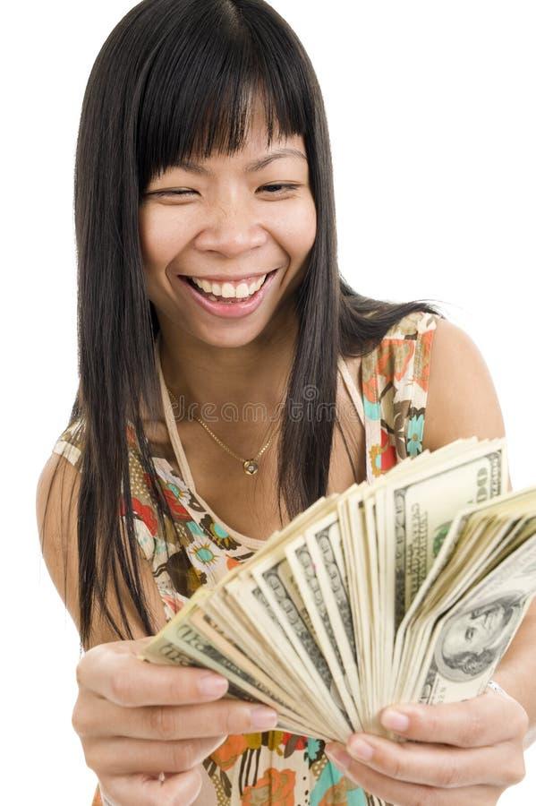 счастливая женщина дег серий стоковые фотографии rf