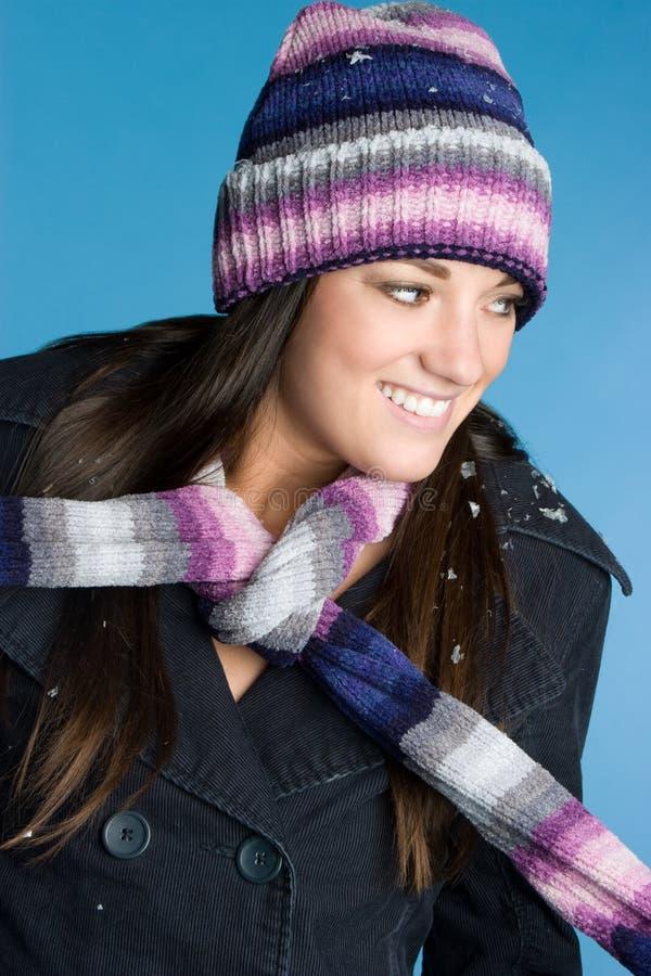 счастливая женщина зимы стоковое изображение rf
