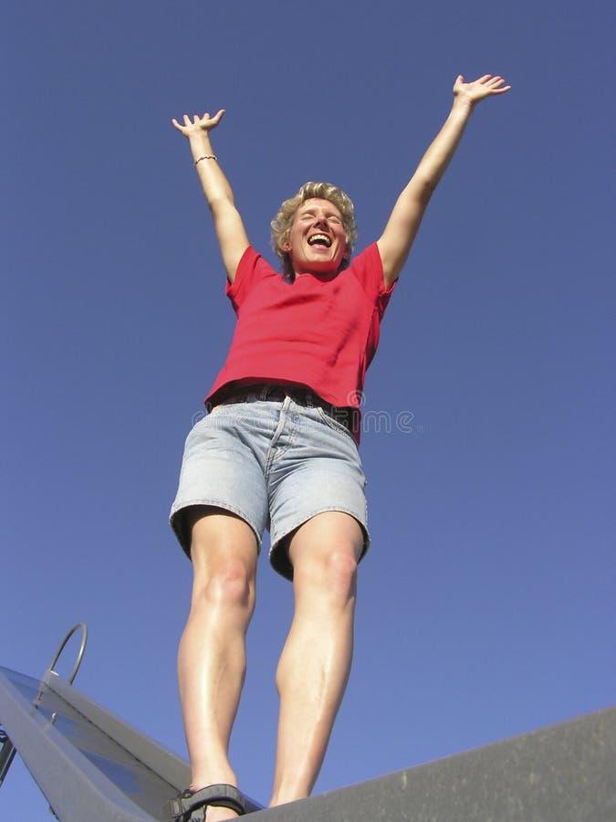 счастливая женщина 02 стоковая фотография