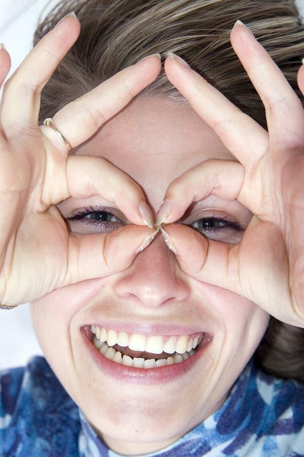 счастливая женщина стоковое изображение rf