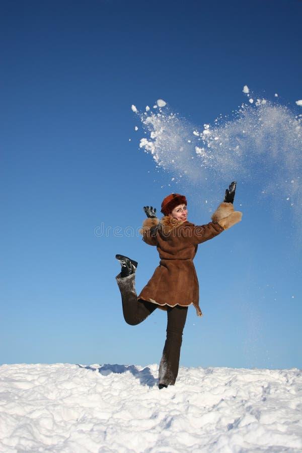 счастливая зима girl4 стоковое фото rf