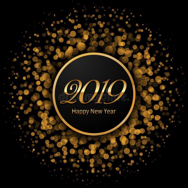 Счастливая иллюстрация 2019 вектора темы Нового Года бесплатная иллюстрация