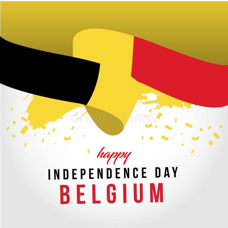 Счастливая иллюстрация дизайна шаблона вектора дня Бельгии независимая бесплатная иллюстрация