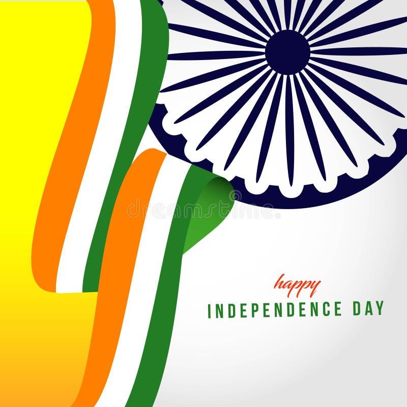 Счастливая иллюстрация дизайна шаблона вектора дня Индии независимая иллюстрация штока