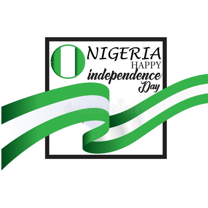 Счастливая иллюстрация дизайна шаблона вектора Дня независимости Нигерии бесплатная иллюстрация