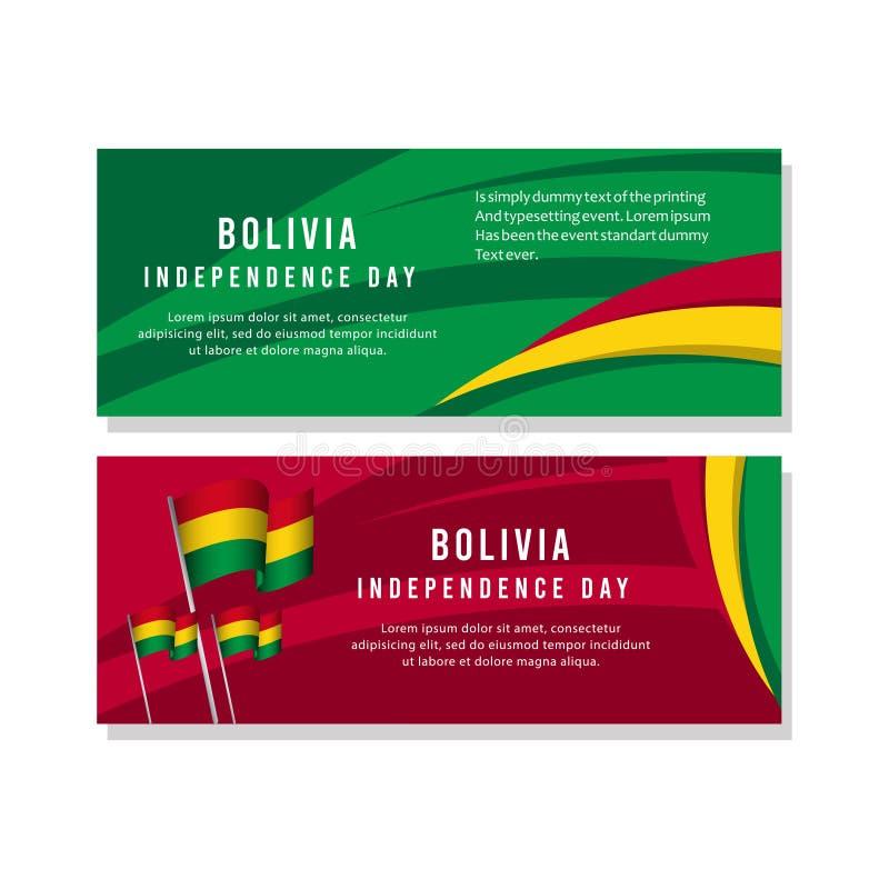 Счастливая иллюстрация дизайна шаблона вектора плаката торжества Дня независимости Боливии иллюстрация вектора