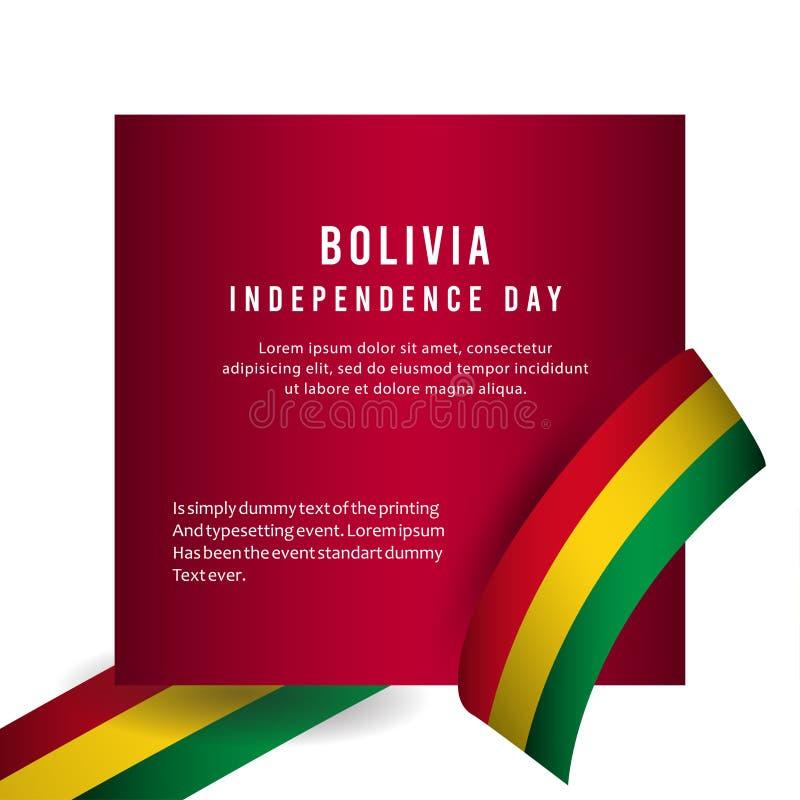 Счастливая иллюстрация дизайна шаблона вектора плаката торжества Дня независимости Боливии иллюстрация штока