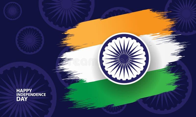 Счастливая индийская концепция Дня независимости иллюстрация штока