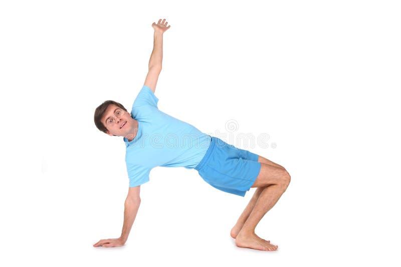 счастливая йога человека стоковые изображения rf