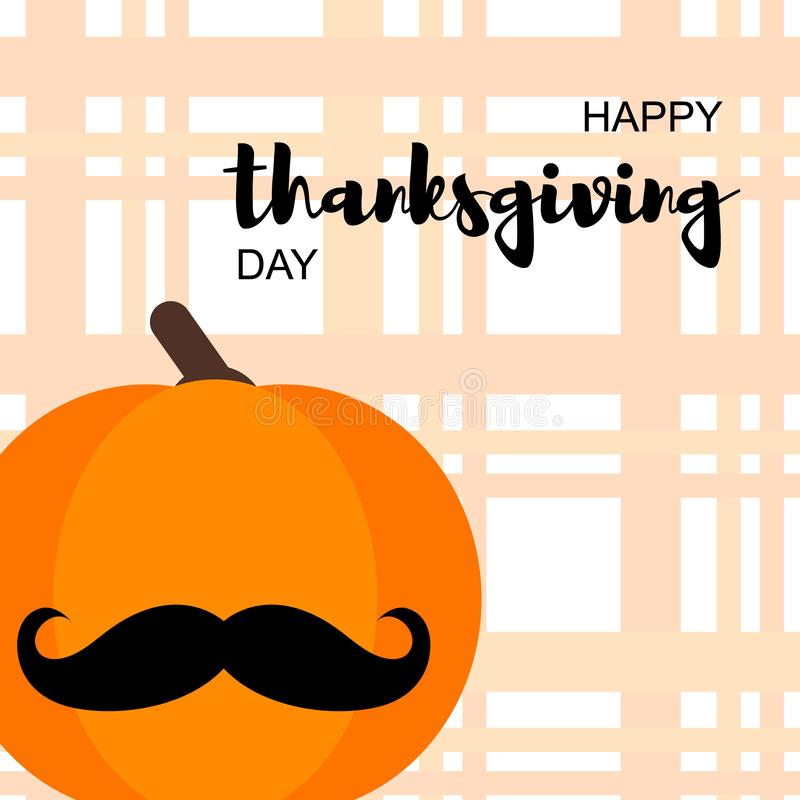 Счастливая карта дня благодарения иллюстрация штока