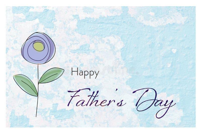 Счастливая карта дня отцов с иллюстрацией цветка стоковое изображение rf