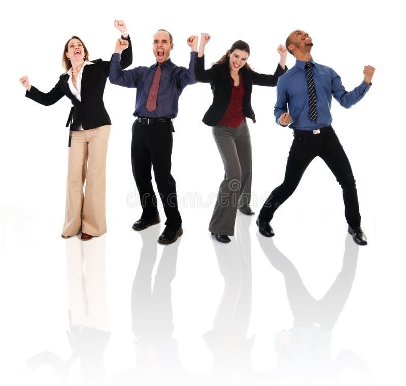 счастливая команда стоковая фотография