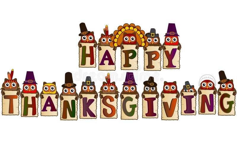 Счастливая концепция благодарения иллюстрация штока