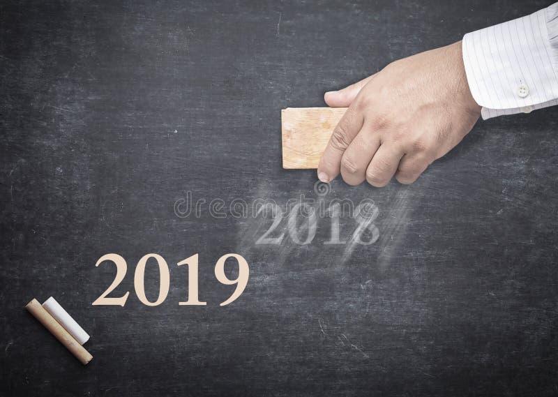 Счастливая концепция 2019 Нового Года стоковое изображение rf