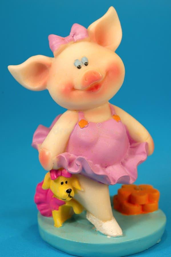 счастливая маленькая свинья стоковые изображения rf