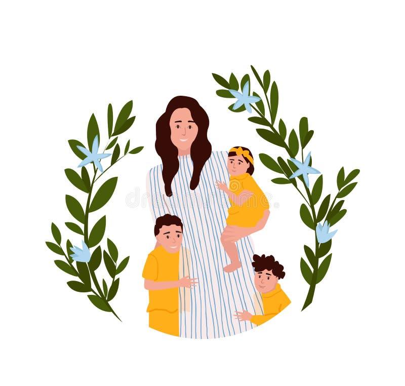 Иллюстрация вектора дня матерей стоковое фото