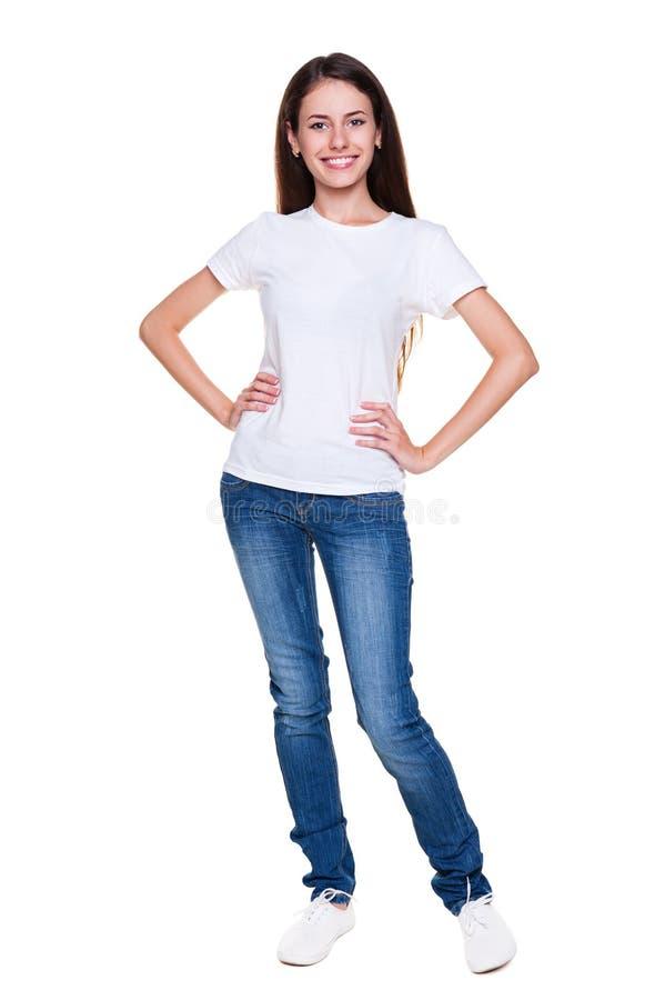 Счастливая молодая женщина стоковые изображения
