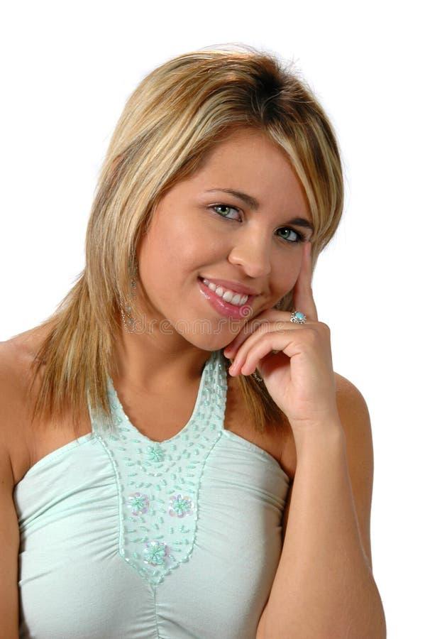 Счастливая молодая женщина стоковые изображения rf