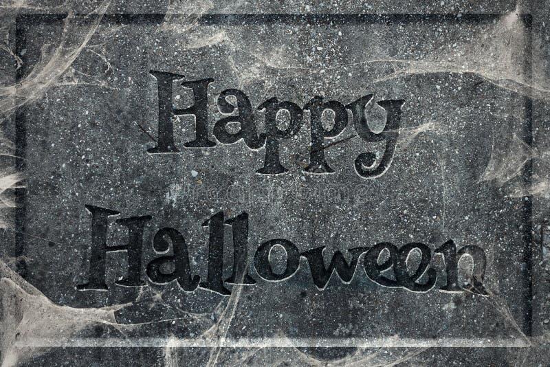 Счастливая надгробная плита хеллоуина стоковые изображения