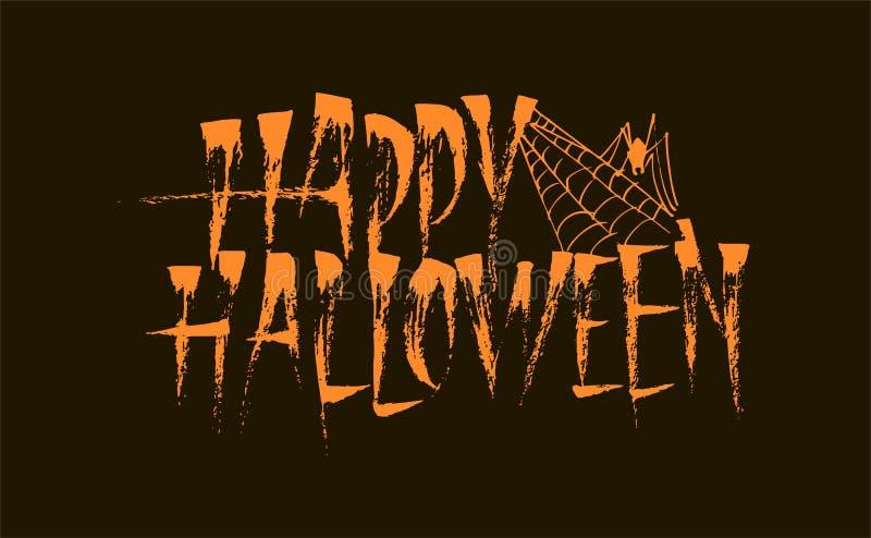 Счастливая надпись литерности каллиграфии хеллоуина стоковые фото