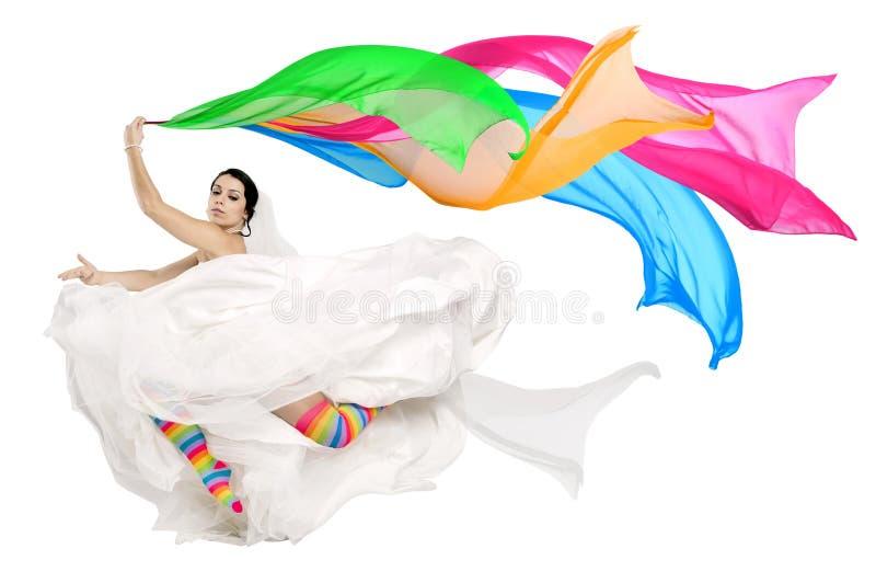 Счастливая невеста потехи стоковые изображения