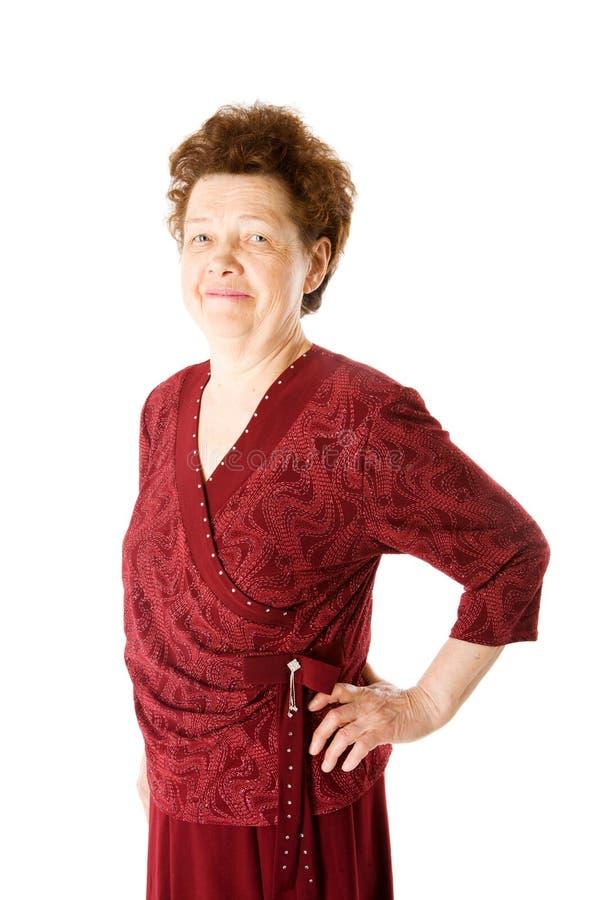 счастливая повелительница старая стоковая фотография rf