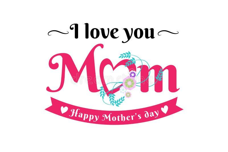 Счастливая поздравительная открытка дня матерей стоковое изображение